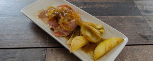 tapa de carne con patatas